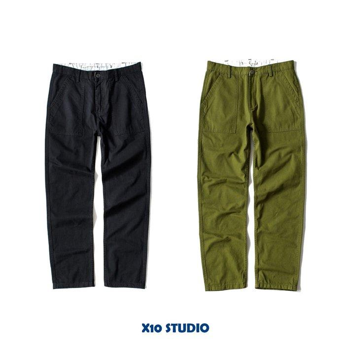 X10 OG107 斜紋純棉 直筒 超重磅 工裝褲 工作褲 寬褲 軍褲 酵素洗