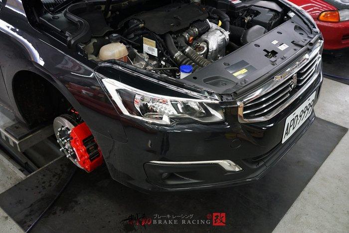 """Peugeot 508 制動迫力升級 專用對應 AP CP-9040 六活塞卡鉗組 VARRO 18""""鋁圈 / 制動改"""