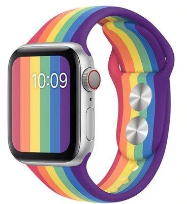 新款Apple Watch 蘋果矽膠運動錶帶 3/ 4/ 5 42mm 44mm Sport Silicon 彩虹LGBTQ 新北市