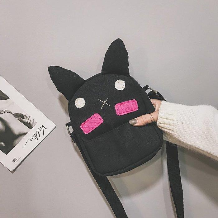 ins日系韓版原宿ulzzang學生卡通萌系可愛帆布chic百搭斜挎小包包 時尚背包