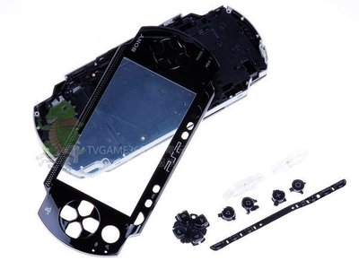 PSP1000 PSP1007 全機外殼含按鍵 副廠零件(黑色)【台中恐龍電玩】