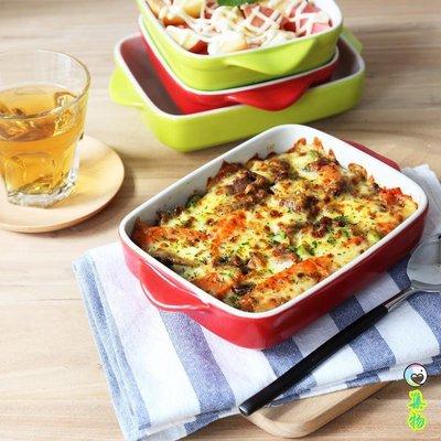 陶瓷烤碗焗飯盤雙耳烤盤意粉盤千層面烘培器具家用餐具