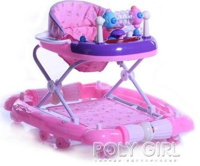 學步車  嬰兒童學步車6/7-18個月寶寶防側翻多功能小孩學行車可折疊帶音樂atf  poly girl