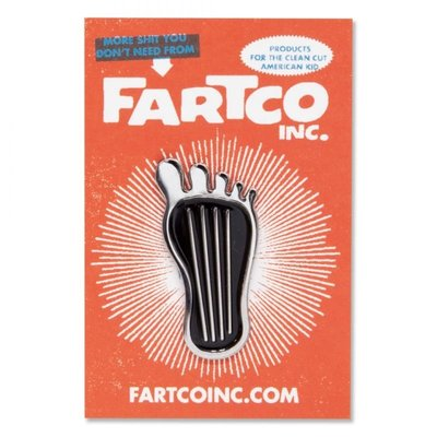 (I LOVE樂多)Barefoot Gas Pedal Enamel Pin 別針