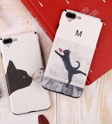 ix手機殼可愛猫咪iphone7/7plus手機殼iphone8/8plus防摔全包軟殼iphone6/6s/6plus