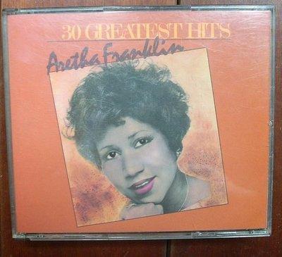 CD(進口版.2張1套)~靈魂樂歌后Aretha Franklin--30 Hits專輯..收錄Respect等.如圖示