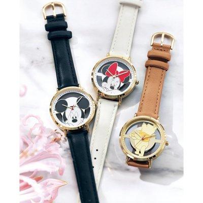 迪士尼DISNEY《現貨》精緻簍空腕錶 手錶~米奇 米妮 維尼 奇奇蒂蒂~日本製~共4款~心心小舖