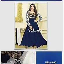 11 刺繡藍金款 Salwar Suit 印度舞衣莎麗紗麗 寶萊塢明星款 Saree Sari