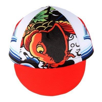 自行車 帽 運動 布帽子-日式年鯉印花時尚腳踏車配件73nx13[獨家進口][米蘭精品]