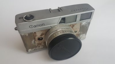 CANON CANONET 底片機 光電池 RF 連動測距 疊影對焦 零件機 殺肉機 古董相機