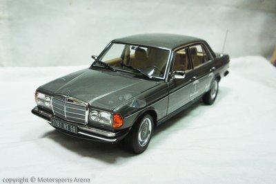 【現貨特價】1:18 Norev Mercedes Benz 200 W123 Saloon 1982 灰 ※合金全開※