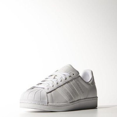 # ADIDAS SUPERSTAR FOUNDATION 白色 愛迪達 三葉草 男女鞋 情侶  B27136 YTS