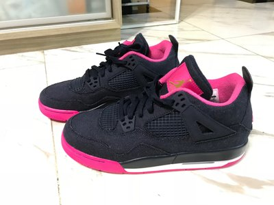 【全新】 Air Jordan 4 Retro 小童/女裝 Woman/ Kids (EU39 / UK6 US8) 黑粉