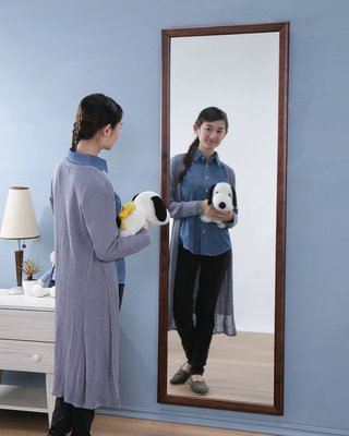 (3月促銷)180公分加大型實木壁鏡 掛鏡 全身鏡 穿衣鏡 兩色【型號KC563】