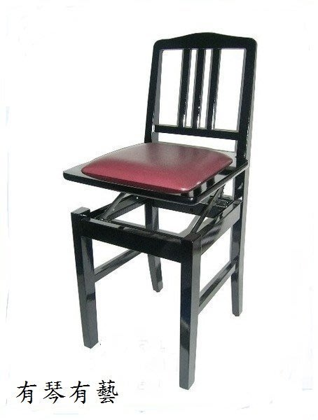 B59a∮有琴有藝@全新靠背式鋼琴升降椅升降鋼琴椅電子琴椅豎琴椅黑色台製品