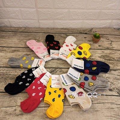 。~ Mian QQ ~。笑臉 數字 愛心 20-26cm 短襪 正韓貨 ㊣ 韓襪 韓國襪子 W