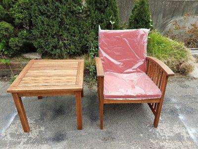 彰化二手貨中心(原線東路二手貨) --- 全新庫存NG品 島國南洋設計 單人沙發+方桌組
