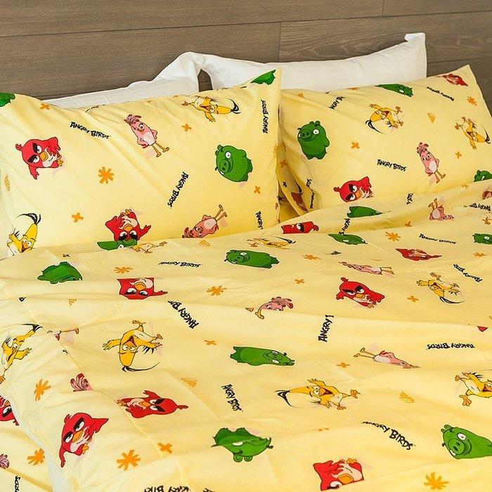 床包 / 雙人加大【憤怒鳥-兩色可選】含兩件枕套,可愛卡通Angry Birds,戀家小舖台灣製