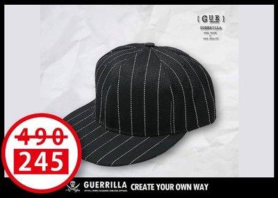 GUE -S04- SNAPBACK - 棒球帽- 直條【回饋商品】