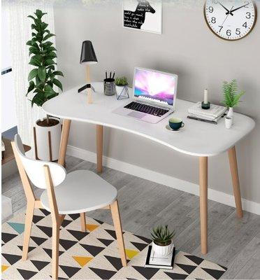 【名品家具】歐式 書桌 台式家用臥室(長弧形烤漆)電腦桌 兒童學習桌 辦公桌 免運