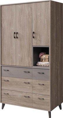 【風禾家具】FSY-12-2@工業風4尺衣櫃【台中15500送到家】開門式衣櫥 北歐風 低甲醛木心板 台灣製傢俱