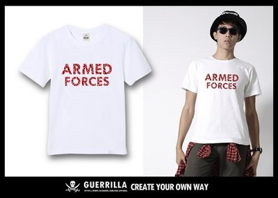 GUE - N63 - ARMED FORCE- 短T- WHITE
