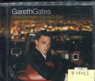 *真音樂* GARETH GATES / WHAT MY HEART WANTS TO SAY 二手 K25043