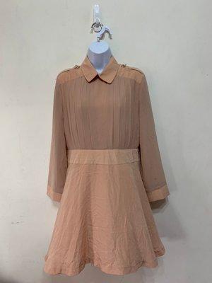 「 二手衣 」 Sweet N'sour 女生長袖洋裝 XL號(杏色)17