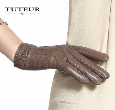 【小p包鋪】羊皮手套 秋冬加絨加厚保暖手套 韓版可愛皮手套3130
