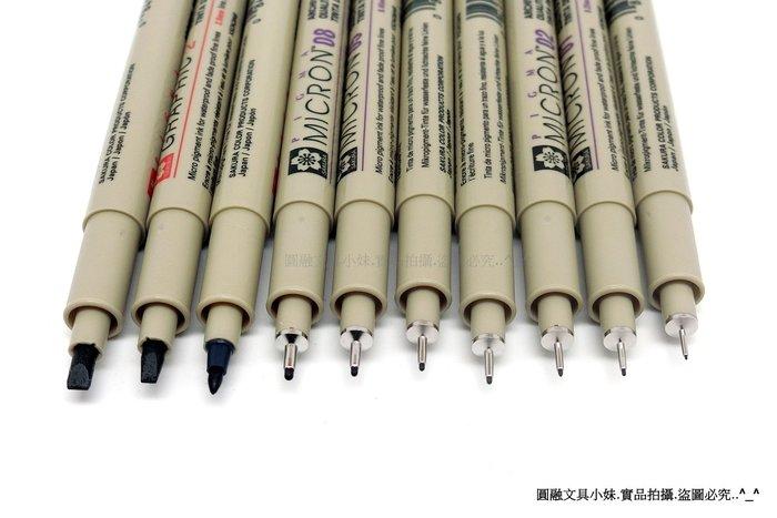 【圓融文具小妹】日本 櫻花 SAKURA PIGMA 筆格邁 黑色 代針筆 防水性 有10規格可選 SDK #50