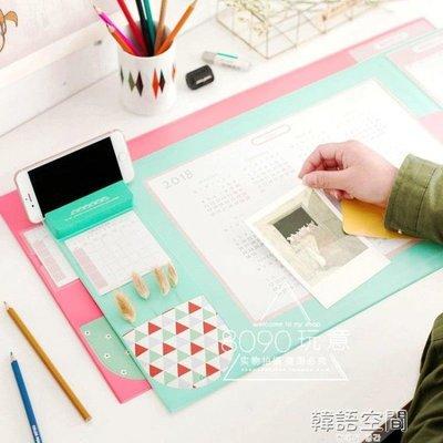 9992019款韓國文具大滑鼠墊日程表桌面墊子超大加厚辦公桌墊可愛家用   韓語空間 YTL下單後請備註顏色尺寸