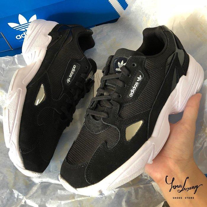 【 Luxury 】 限量特價30雙下單區 Adidas Falcon 黑白 米灰白 兩色 男女款 愛迪達老爹鞋 B28