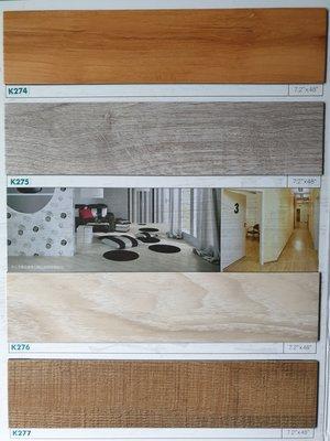美的磚家~福樂FLOORWORKS時尚風枕木紋塑膠地磚塑膠地板~寬長版18cmx122cmx2.0m/m,800元/坪.