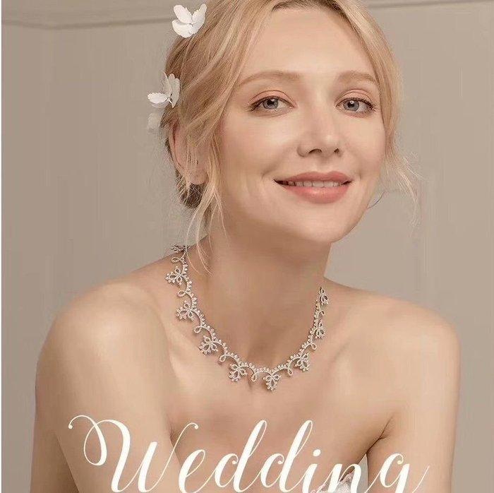 💎1329、(預購)頂級摩納哥王妃玫瑰蕾絲輕奢頸鍊💎正韓飾品 耳環 珠寶 925純銀針