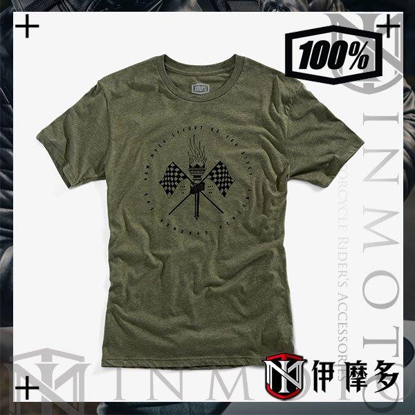 伊摩多※美國Ride 100% TEE VALKYRIE 綠 男款經典短袖 T恤 T-Shirt 32086-005