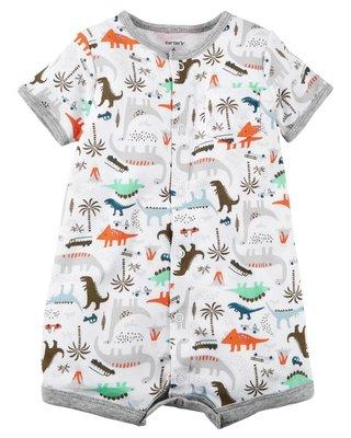 【安琪拉 美國童裝/ 生活小舖】Carter's 繽紛熱鬧小恐龍連身衣 台北市