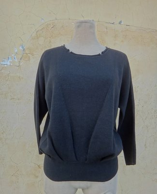 jacob00765100 ~ 正品 SINGLE NOBLE 獨身貴族 黑色 混羊毛七分袖針織衫 size: 36