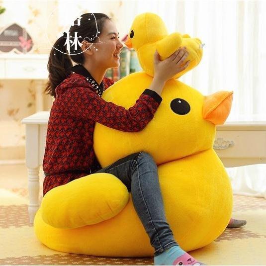 毛絨玩具 公仔黃色小鴨子抱布偶抖音娃娃生日禮物
