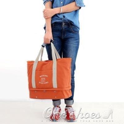 ZIHOPE 正韓時尚旅行手提包女帆布男大容量包可折疊行李衣物旅行袋拉桿包ZI812