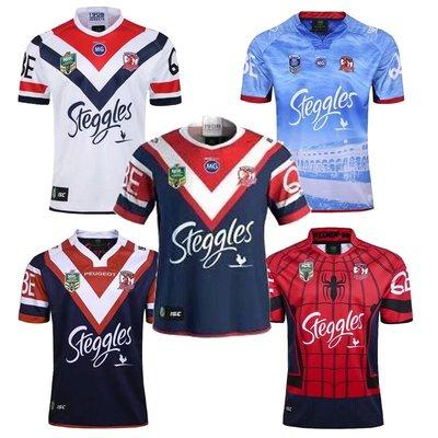 澳大利亞雄雞客場橄欖球服 Sydney Roosters rugby 澳大利亞橄欖球衣 訓練服 短T 球隊服