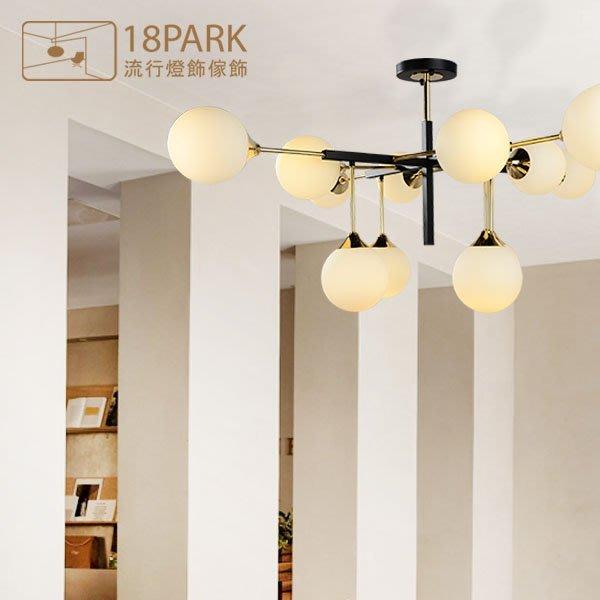 【18Park 】經典設計 Artistic art ceiling lamp [ 藝生藝事吸頂燈-12燈 ]