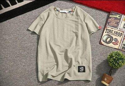 夏季純色亞麻短袖t恤男棉麻半袖體恤潮流韓版寬鬆打底衫男裝上衣