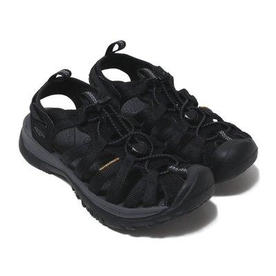 =CodE= KEEN WHISPER SANDALS 編織彈性綁繩護趾防水包頭涼鞋(黑灰) 1018227 拖鞋 女
