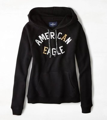 【BJ.GO】AMERICAN EAGLE_AEO Signature Graphic Hoodie 甜美老鷹連帽上衣