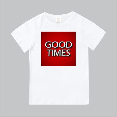 T365 MIT 親子裝 T恤 童裝 情侶裝 T-shirt 標語 話題 美式風格 slogan GOOD TIMES