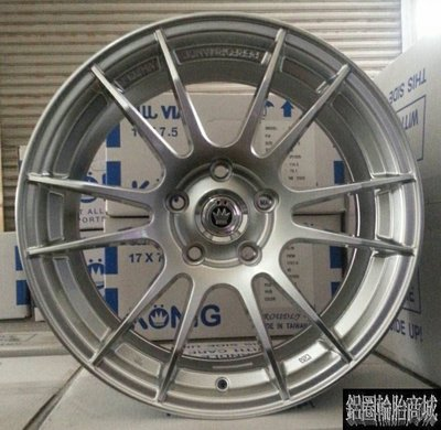 全新 KONIG KN-05 KN05 17吋鋁圈 銀色 5/100 5/108 5/112 5孔114.3 4孔108