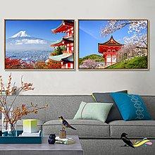 日本風景日式餐廳裝飾畫日式酒屋料理店壽司店掛畫相框榻榻米牆畫(12款可選)