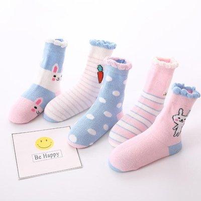 兒童襪子純棉可愛胡蘿卜兔子女童棉襪秋冬寶寶短襪『VIVI時尚』
