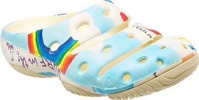 訂金KEEN YOGUI ARTSFULL PG&A 1014820彩虹白雲藍天防水陸兩用沙灘運動護趾休閒厚底懶人鞋拖鞋