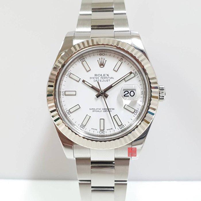 ROLEX 勞力士 DateJust II 116334 台灣AD 原廠盒證 保固中錶 白色面盤 大眾當舖 編號9168
